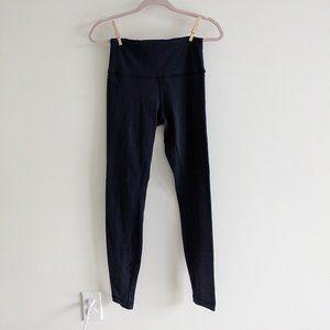 lululemon size 6 navy blue leggings EUC